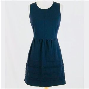 J Crew Navy Blue Sleeveless Dress With Pockets 00